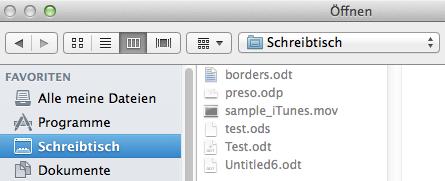 App Sandbox native Öffnen dialog