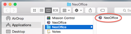 NeoOffice NeoOffice 2013.3 installation folder